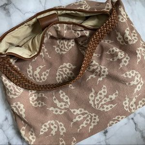 French Connection pink and cream tote bag
